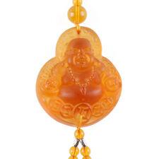 Liuli Amber Crystal Maitreya Happy Buddha Amulet Pendant Car Hanging Ornaments