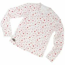 Hot Chillys Kids Girls MTF Base Layer Crewneck Top - L - Hearts - New in Box!