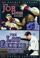 The Joe Lewis Story and The Lou Gehrig Story DVD 2007 Double Feature NEW