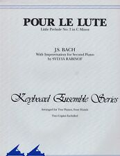 POUR LE LUTE Little Prelude No 3 C Minor BACH Sheet Music Two Pianos Four Hands