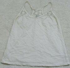 Tank Top Tee T-Shirt Sleeveless White Size Small Spaghetti Strap Old Navy Cotton