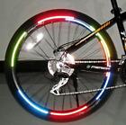 Bike Wheel Reflectors - Reflective Stickers - 1 Sheet (8 Stickers)