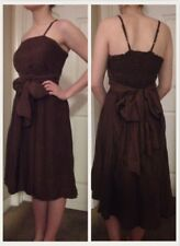 NEW GLAM VINTAGE SOUL SILK DRESS S Smocked Back India Lightweight Silk GORGEOUS!