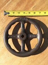 "JENKINS BROS Valve Hand Wheel, Cast Iron, 7"" Diameter Salvage Art Decor"
