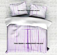 Indian Tie Dye Shibori Duvet Cover King Size White Comforter With 2 Pillows Case