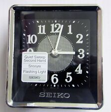"""SEIKO -""""NEW"""" CONTEMPORARY ALARM CLOCK WITH QUIET SWEEP """"ROONEY"""" QHE142KLH"""