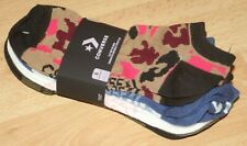 CONVERSE flat knit no show socks UK 4-10 6 EU 37-41 6 pairs great value