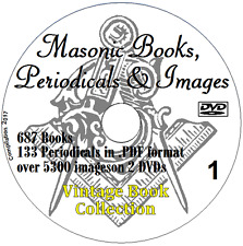 FREEMASONRY MASONIC collection 687 Books on 2 DVDs Masons Occult Freemason +