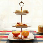3 Tier Hardware Crown Cake Plate Stand Handle Fitting Wedding Party AC