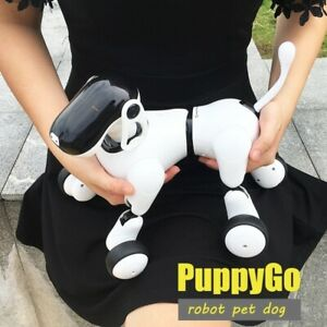 Smart AI RC Dog Puggy Robot Remote Control Toys with APP Control Kids Music Gift