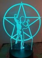 Laser Gravé LED Bureau Clair Rush Starman Rock Band Personnalisé Cadeau Unique
