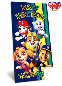 Paw Patrol Bath Towel,Beach Towel,Swimming Towel,100% Cotton,Official Licensed