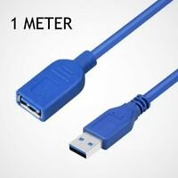 USB 3.0 Type A M to A F Super Speed Cable Extension Male to Female Lead 1m