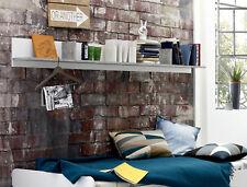 Wandregal Wandboard Bücherregal Regal weiß und Beton Stone Design 200 cm Canaria