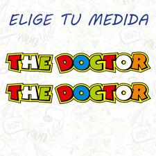 2x PEGATINA VALENTINO ROSSI THE DOCTOR CASCO MOTO VINILO STICKER DECAL COCHE