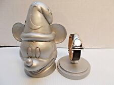 DISNEY GALLERY FANTASIA SORCERER APPRENTICE LE 1940 MICKEY WATCH AND FIGURINE c