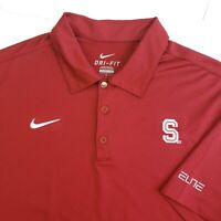 Nike Stanford University Cardinal Basketball Golf Polo Shirt Men's Large