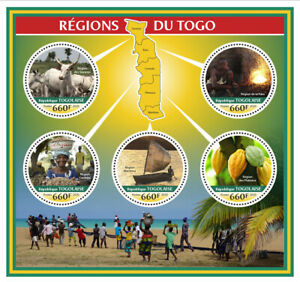 Togo Cultures & Traditions Stamps 2020 MNH Regions Boats Fruits Cows 5v M/S