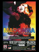 """Madonna Sticky Valencia 16"""" x 12"""" Reproduction promo Concert Poster Photo"""