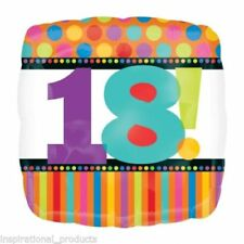 Anagram HAPPY 18th BIRTHDAY 18 Today Square Foil Helium Balloon Boy Girl 18""