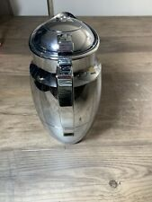 Pampered Chef Carafe #2291 Glass lined Chrome finish Hot/Cold