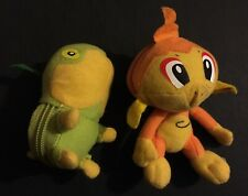 Chimchar Turtwig TOMY Plush Reversible Pokeball Zipper Pokemon Toy Sinnoh RARE