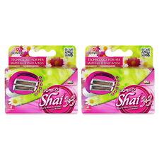 Dorco Shai Dual Blade- Six Blade Razor Shaver System 8 Refill Cartridges-Women