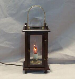 "Virginia Metalcrafters Williamsburg Wood Lantern ""Super Rare"" Electric Lamp"