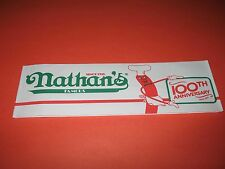 NATHAN'S FAMOUS HOT DOGS 100TH ANNIVERSARY PAPER HAT - BRAND NEW !