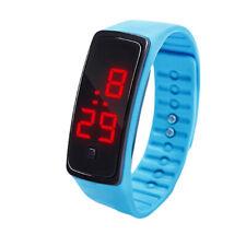 Womens Mens Watches LED Sports Watch Bracelet Digital Wrist Watch Single Key Off