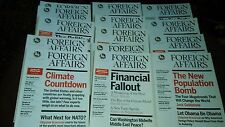 16 COPIES OF FOREIGN AFFAIRS MAGAZINE FROM 2008 TO 2011