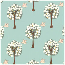 Dove House - Tree Lined Aviary - Light Sage - Quilting Fabric