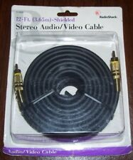 New listing Vintage Nos Bin Stereo Audio / Video Cable Radio Shack New in box 12' Shielded