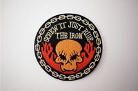 Screw it Just Ride the Iron patches, Sew or Iron On, Rocker, Biker,