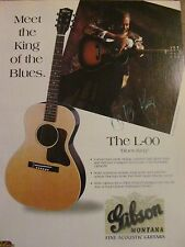 B.B. King, Gibson Guitars, Full Page Vintage Promotional Ad