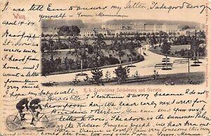 RARE! 1904 Schönbrunn Palace and Park in Vienna, Austria - Cool Stamp & Postmark