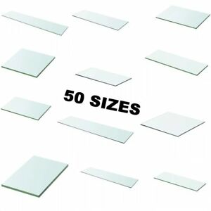 Shelf Panel Glass Clear Sheet Storage Room Shelving Racking Display Multi Sizes~