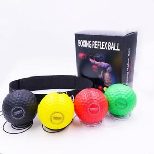 Boxing Head Band Speedball Fight Ball Training Reflex Speed Punch Exercise New