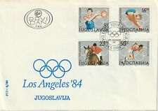 1984 Yugoslavia FDC cover Olympic Games Los Angeles