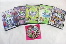 Lot of 6 SIMS 3 WIN/MAC Full & Expansion Packs - Showtime Late Night Ambitions +