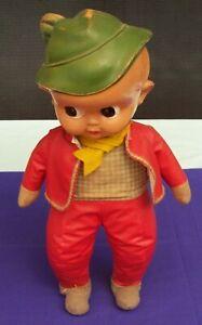 Vintage Palitoy Celluloid & Cloth Boy Doll Googly Eyes England