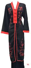 Authentique vetement ensemble Ao Dai vietnam Rouge Noir et Kimono taille 36 - 50