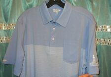 STRAIGHT DOWN TST ODESSA CC MEN'S SZ MEDIUM GOLF POLO NWT $85 W/POCKET