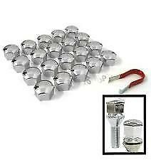 17mm CHROME Wheel Nut Covers with removal tool fits FIAT (ET)