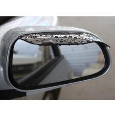 2x Car Rear View Mirror Snow Rain Board Guard Sun Visor Stick Black Accessories