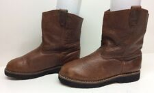 VTG UNISEX UNBRANDED COWBOY WORK BULLHIDE LEATHER BROWN BOOTS SIZE M: 7 W: 9