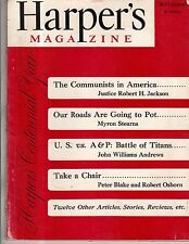 1950 Harper's September-I weep for the Chinese; Communists in America; Bad roads