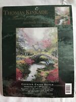 Thomas Kinkade Brookside Hideaway Counted Cross Stitch Kit #51157 Candamar NEW