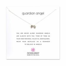 "Dogeared Guardian Angel Wings Sterling Silver 16"" with 2"" Extender Box Necklace"