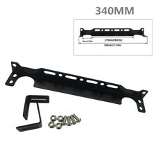 340MM Aluminum Bracket Engine Oil Cooler Radiator Adapter Black Set 210mm /223mm